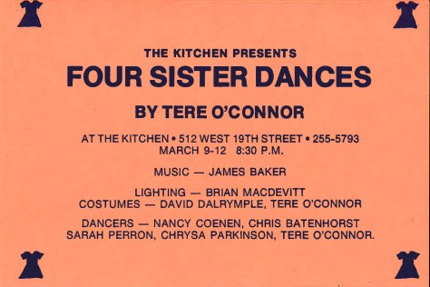 Postcard_O'Connor_FourSisterDance_1989