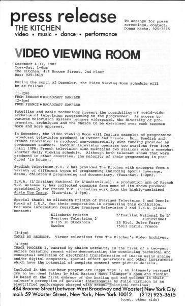 pressrelease_RobertWilson_Video50_1982_Page_1