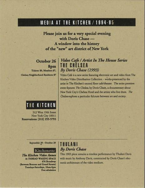 Flyer_Doris-Chase_The-Chelsea-Thulani_1994-463x600