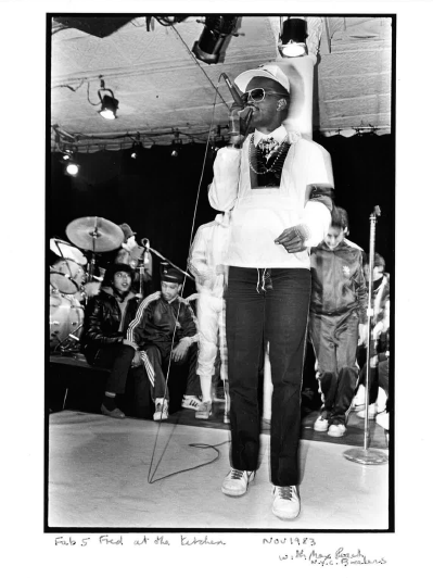 Fab 5 Freddy at The Kitchen. Photo by Paula Court.